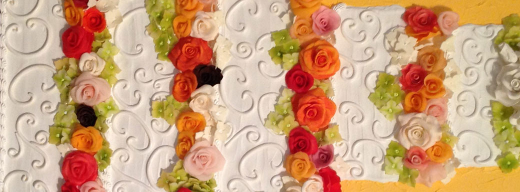 Traditional 5-Layer with Beautiful Roses